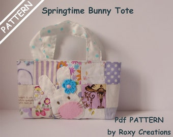 PDF Pattern Springtime bunny tote