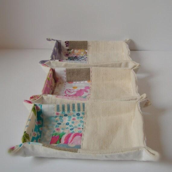 Set of 3  Storage baskets patchwork