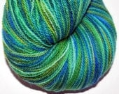 Lagoon Hand Dyed Yarn Fingering Weight