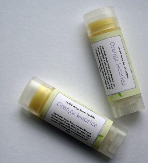 Mango Butter Lip Balm: Orange Licorice