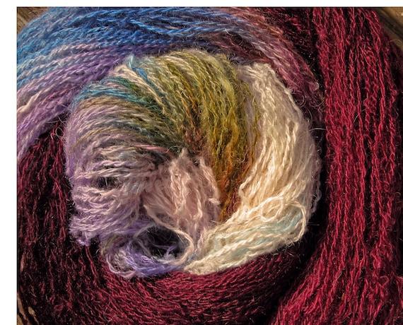Elvincrafts Own Handspun Hand Dyed Yarn Shetland Gotland Hebridean 4ply, Fingering, Enchantress's Garden