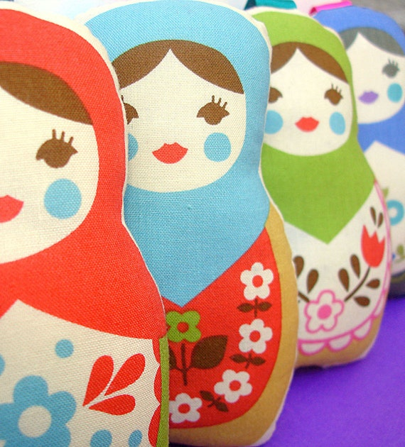 Hanging Russian doll with lavender