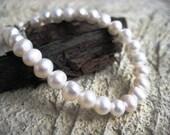 Bridal Jewelry-Bridesmaid/Bride Custom Freshwater Pearl Bracelet- sterling silver