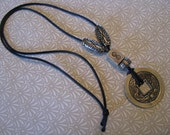 Chinese Coin and Soapstone Necklace