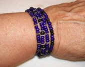 Stretch Purple  Wood ankle Stackers Stacking Mix and Match 1