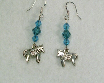 Save Now Were 7.00 Horse Charmed Earrings Sterling Silver Earwires