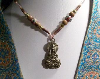 Spiritual Fashion Statement Kwan-Yin Buddha Amulet Pendant Goddess of Compassion