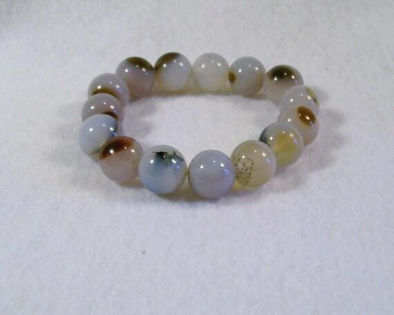 white agate bracelet dzi