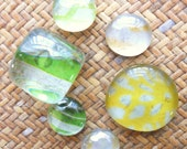 Lemon Lime - set of glass magnets