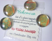 Bohemian - Set of 4 glass magnets