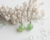 Where The Ferns Glow dangle earrings with vintage beads