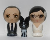 Custom Wedding Cake Toppers with Pet Hand Painted