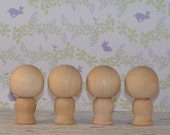 Do It Yourself Small Wooden Kokeshi Dolls
