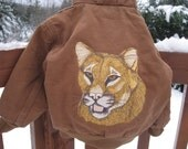 Embroidered Personalized Toddler Carhartt hooded jacket.  A coat that is embroider with your choice of Wildlife animals from a Bear, Cougar, Elk or even Horses