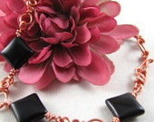 Onyx Copper Bracelet  B163