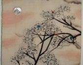 Vintage Kimono Fabric Wall Hanging Custom Diptych