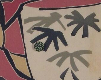 Love a Cup Vintage Kimono Fabric Collage Wall Art