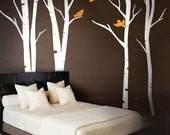 Birch tree decal - Wall Art Vinyl Decal Sticker Home Style - Terrific Forest 101