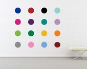 6 inch Circles and Polka Dots Vinyl Wall Decal in 16 colors
