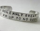 Handstamped No Good Cuff Bracelet