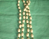 Miriam Haskell Vintage Bead Necklace In Ivory
