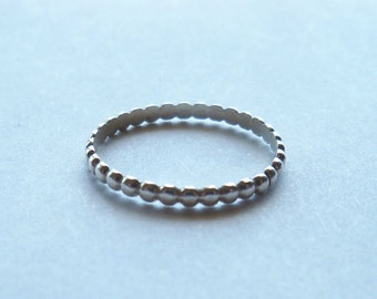 Sterling silver bead stacking ring