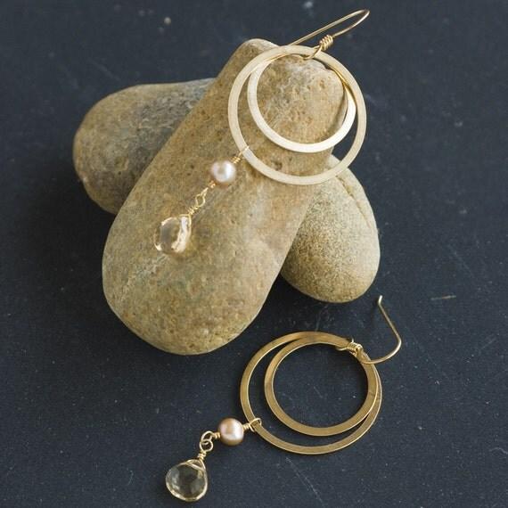 Carmelita Gold Double Hoop Earrings