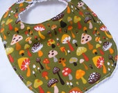 75% Off STORE CLOSING SALE Willow Shrooms Baby Bib - fits up to 12 months