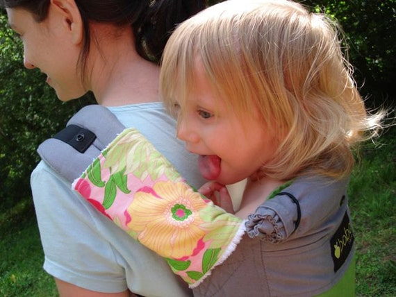 Drool/Sucking Pads for Ergo Baby Carrier (Pink Floral)