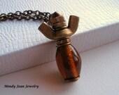 Hardware Angel Pendant Necklace, Hardware Angel Necklace, Rustic Angel Necklace, Hardware Jewelry