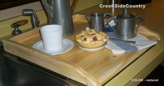 UNFINISHED Wood Kitchen Sink Cover for twin sink or Stove