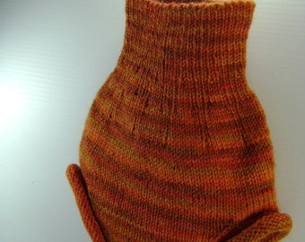 MEDIUM - All Wool Diaper Cover - shades of autumn