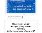 Blueprint for Living. Original foto & empowering Quote