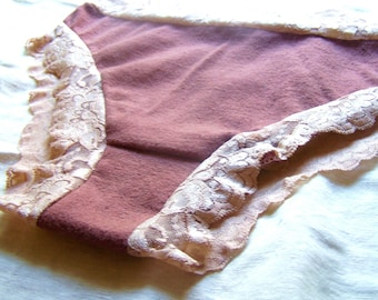 Lovely Lacey hemp/organic cotton undies LOWRISE