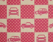 Echino decorator print - 1 yard of pink Car Box