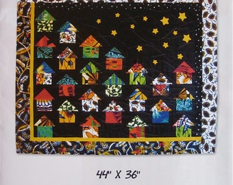 Quilt Pattern - It Takes a Village wall hanging