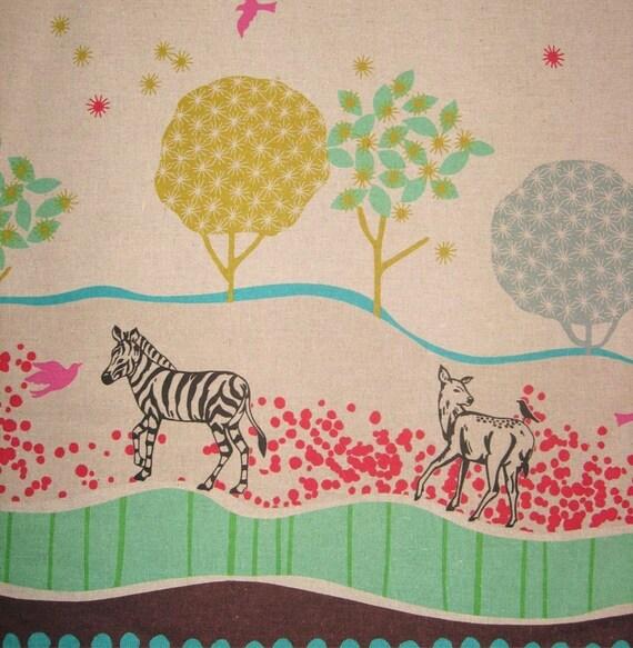 Echino decorator print - 1 yard of natural Grassy Plain