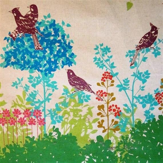 Echino decorator print - 1 and 1/4 yards of green Wish