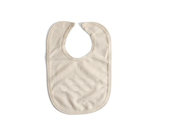 2-Pack Mom's Favorite Organic Bibs - organic cotton terry cloth with velco closure - 2 pack