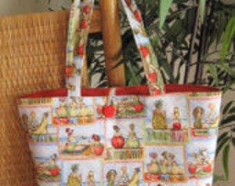 fruit lady tote