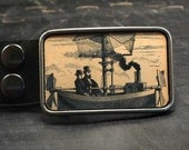 Steampunk belt buckle, Ship, Boat