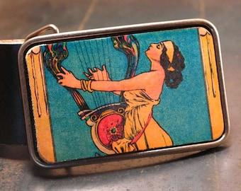 Art deco belt buckle,The sound of music leather belt buckle