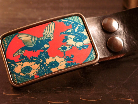 The hummin bird belt buckle