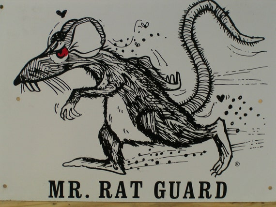 Very Rare Old Metal Advertising Sign Mr Rat Guard Rodent