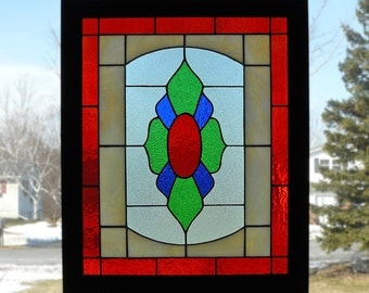 Classic Framed Stained Glass Window