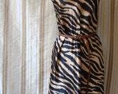 gold tiger mini dress