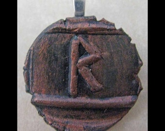 New Years Resolution,Travel, New Age, Wiccan, Viking, Pendant, Polymer Clay, Copper, Ancient Coin Style, Rune, RAIDHO,Movement,Dance,Jewelry