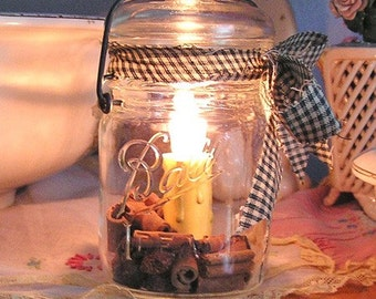 VINTAGE BALL BRAND CANNING JAR - NIGHT LIGHT