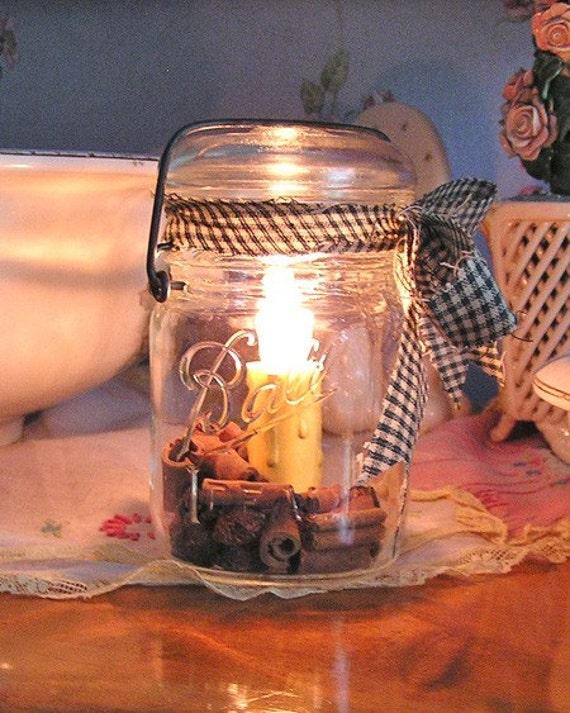 Vintage Ball Brand Canning Jar - NIGHT LIGHT