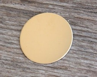 1.25 Inch 22 Gauge Gold Fill Disc -- Jewelry Stamping Supplies